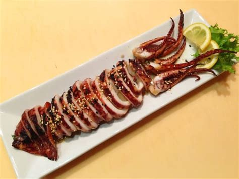 sushi fan cafe menu grilled whole squid yelp