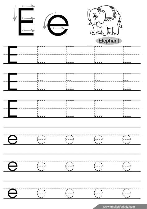 alphabet worksheets letter e letter tracing worksheets letters a j