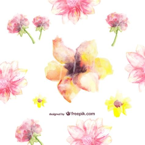 watercolor flowers pattern vector free download free watercolor floral pattern vector free download