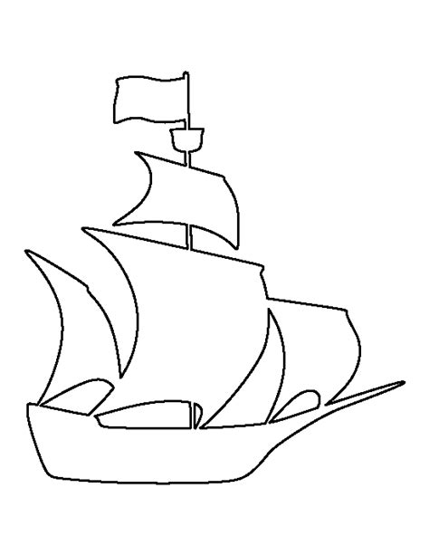 boat drawing template pirate ship pattern use the printable outline for crafts