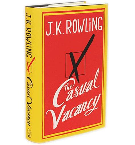 Jk Rowling The Casual Vacancy the casual vacancy j k rowling 9780316228534