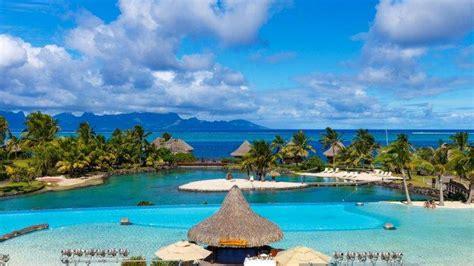 landscape nature tropical resort tahiti french