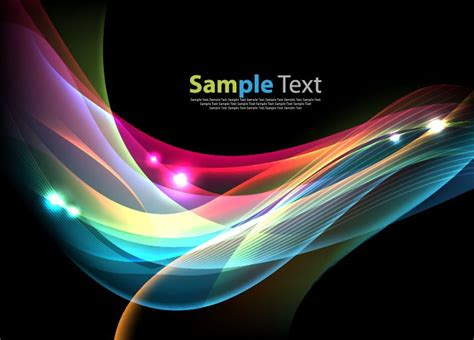 colorful waves colorful waves on background vector illustration