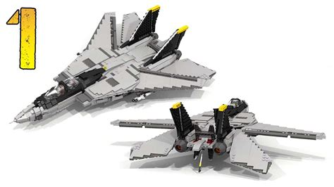 Lego F how to build lego f 14 tomcat part 1