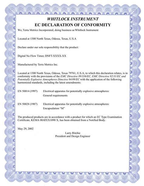 ec declaration of conformity template read book declaration of conformity infocus pdf read