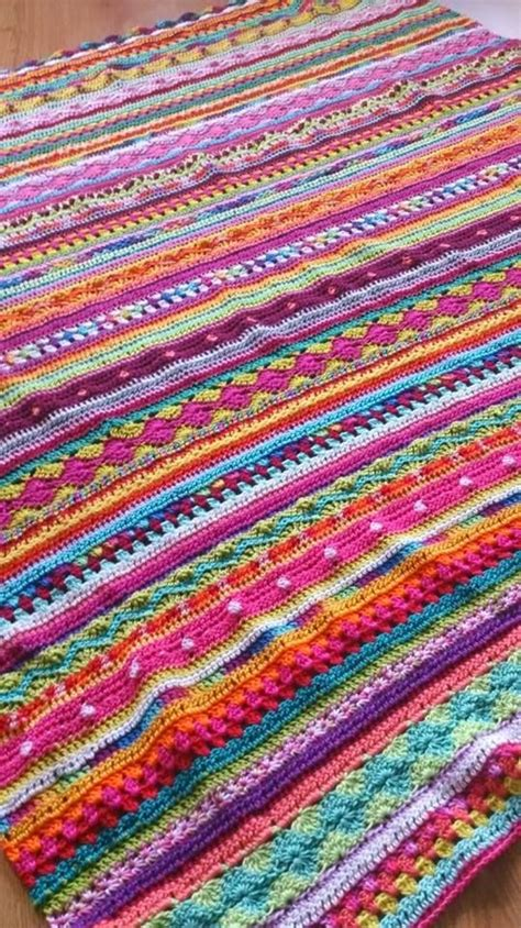 mixed patterns 74 best crochet mixed stripes blankets images on pinterest