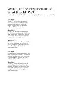 worksheet on decision making