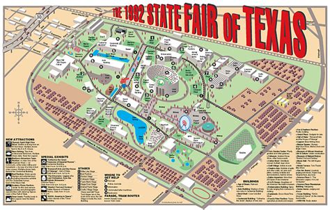 state fair of texas map the state fair of texas 1992