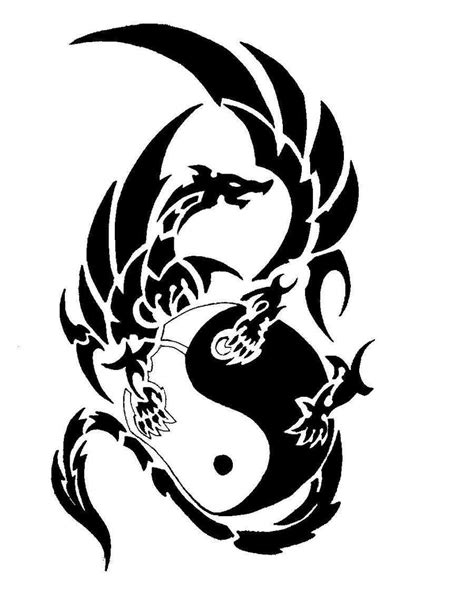 dragon tattoo designs black and white black and white clipart best