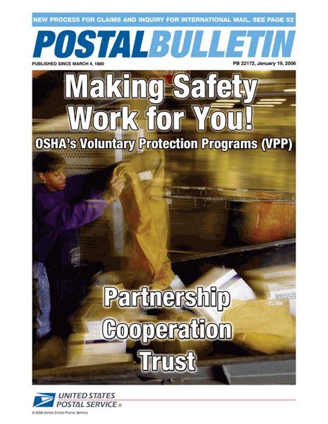 trust works pb 0007503865 postal bulletin issue 22172