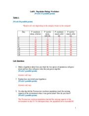 light and plant growth virtual lab populationbiologyworksheet ak lab 5 population biology