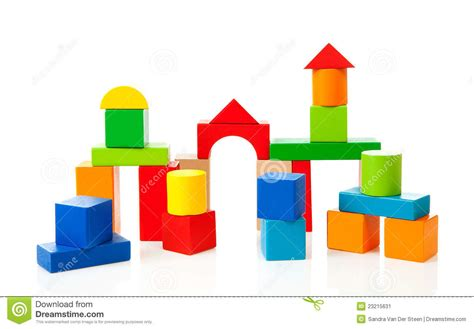 houses made out of sheds house made out of colorful wooden building blocks stock image image 23215631