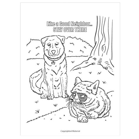 free coloring pages of grumpy cat