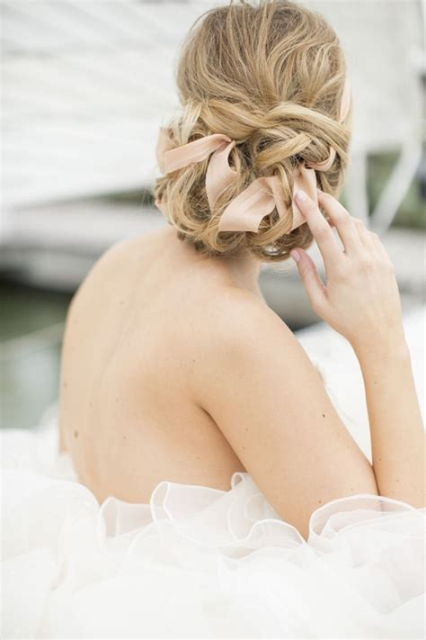 bridal ribbon hairstyles updo archives emmaline bride