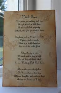wedding wishes poem butterfly wedding wish tree poem vintage style beautiful design handmade unique trees poem