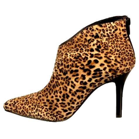 cheetah boots s carlos santana pizazz ankle boots booties heels