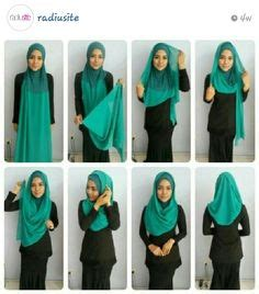 tutorial radiusite instagram cara pakai shawl halfmoon gaya felixia yeap 2015 hijabs