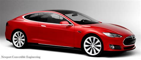 Tesla Four Door Tesla Model S Coupe Mega Engineering Vehicle