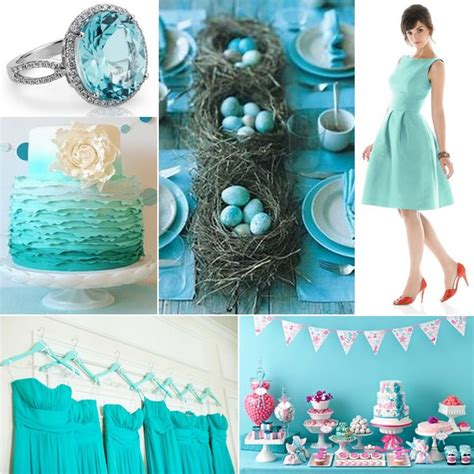 turquoise white silver wedding inspiration linentablecloth