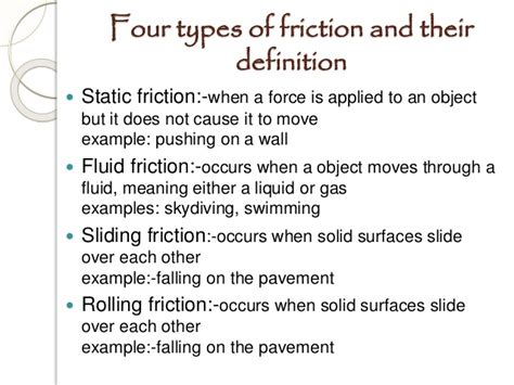 types meaning friction ppt