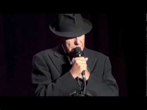 leonard cohen going home dublin 12 09 2012