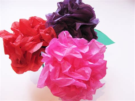 Tissue Paper Flower Craft - simple steps to make beautiful tissue paper flowers with