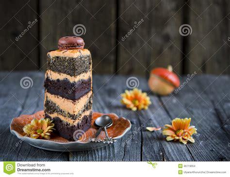 orange chocolate cake stock photo image 46719054
