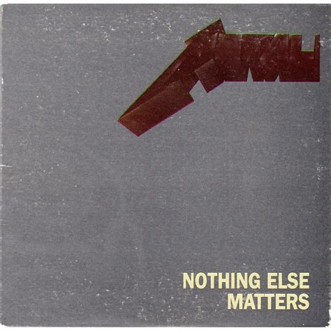 nothing else matters metallica australie nothing else matters cd single