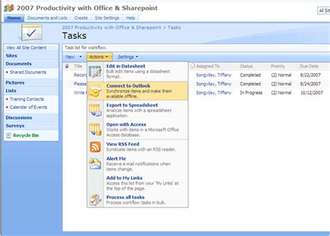 5 Lists To Look by How Do I Sync Sharepoint Lists With Outlook 2007