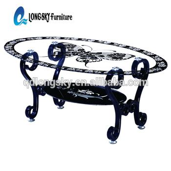 all glass table ls ls 1107 oval shape special acrylic legs glass coffee table