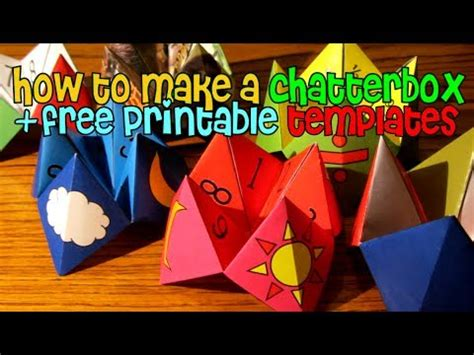 How Do You Make A Paper Chatterbox - how to make a chatterbox fortune teller free printable