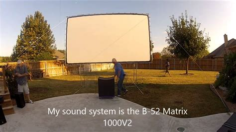 backyard theater screen outdoor how to set up your own backyard theater systems
