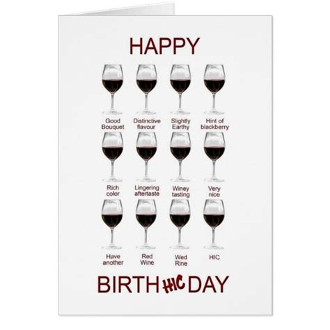 printable birthday cards wine wine tasting funny birthday card zazzle com