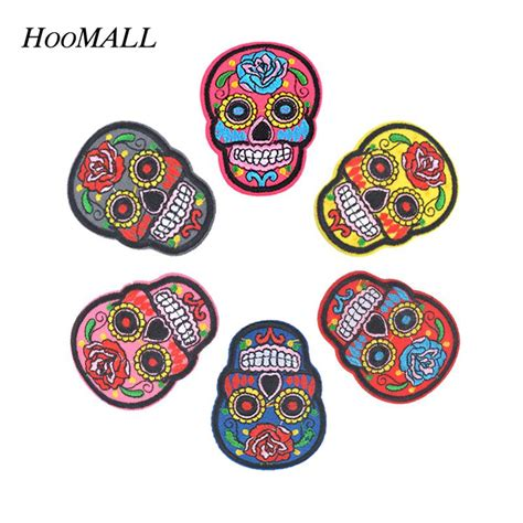 Upholstery Patches by Hoomall 5pcs Iron On Patches Diy Flowered Skull