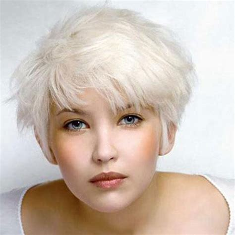 short white hair short white blonde hair short hairstyle 2013