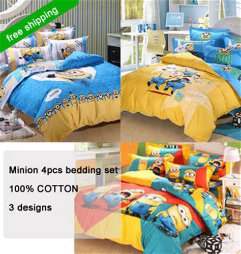 minion bedding new hot 3d minion bed 3 4pcs cartoon bedding sets twin