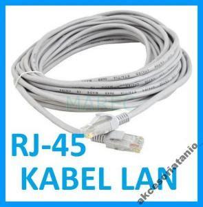 New Kabel Roset Telepon 30m kabel sieciowy lan 30m rj45 utp cat5e 5510569595 oficjalne archiwum allegro