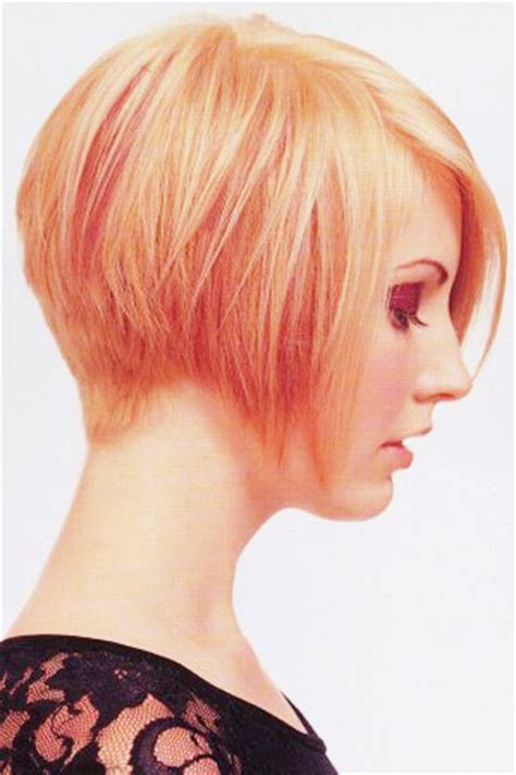beveled back short hair bob haircut beveled back hairstyle galleries for 2016 2017