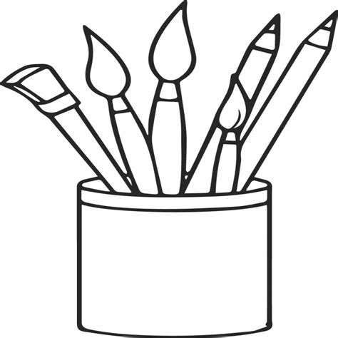 Coloring Pages Of Hair Brushes