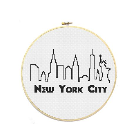 pattern maker new york pdf new york city skyline cross stitch pattern from