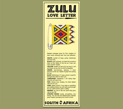 Zulu Business Letter bookmark zulu letter