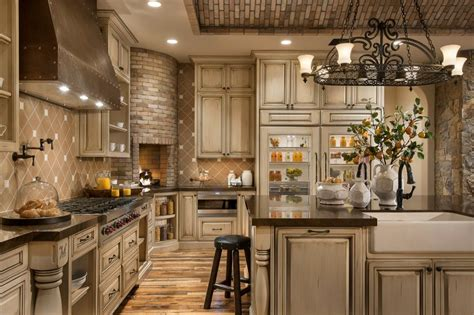 tuscan country kitchen traditional kitchen with l shaped glass panel zillow digs
