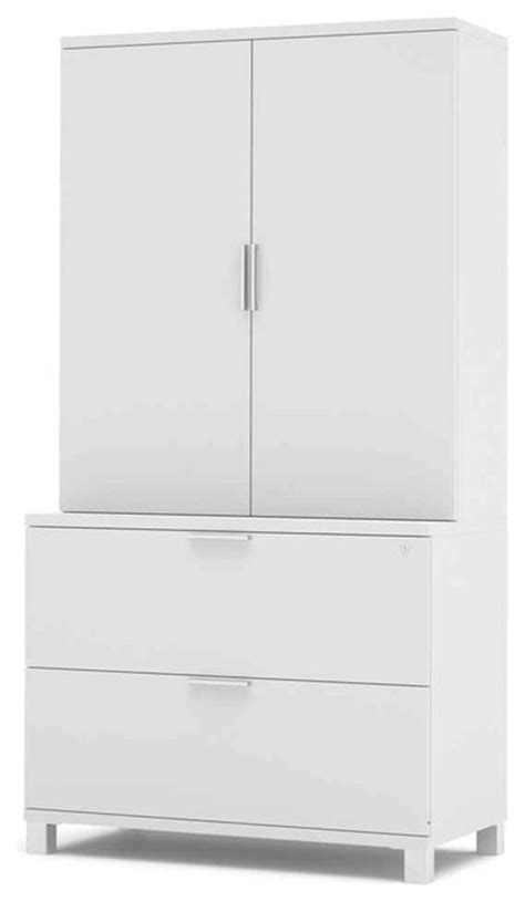 White Lateral File Cabinet Lateral File Cabinet Set In White Contemporary Filing Cabinets By Shopladder