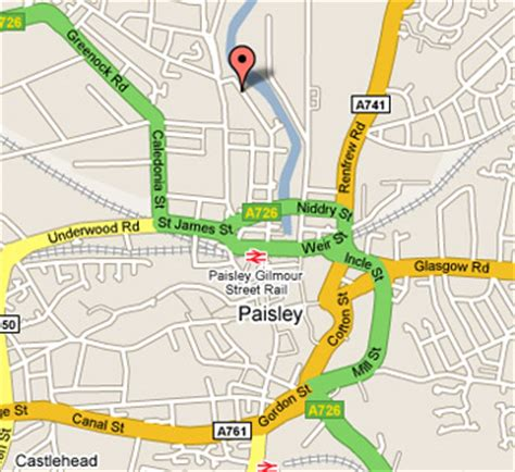 map of paisley paisley map and paisley satellite image
