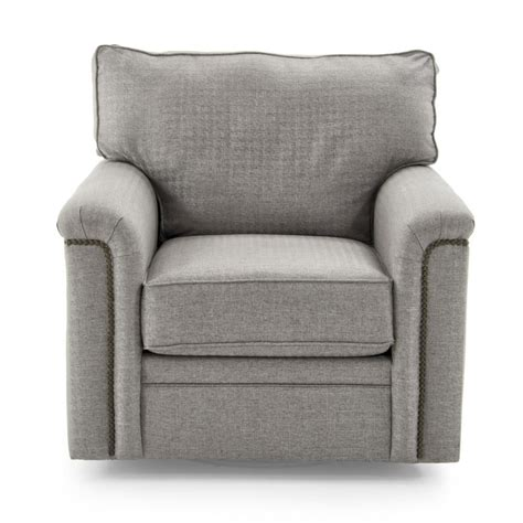 broyhill swivel chair broyhill furniture warren swivel chair with nailhead