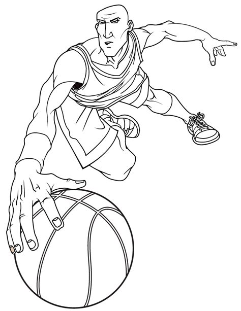 coloring pages of a basketball player basketball player shooting coloring pages sketch coloring page