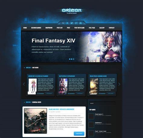 10 best php website templates for gaming web resources free