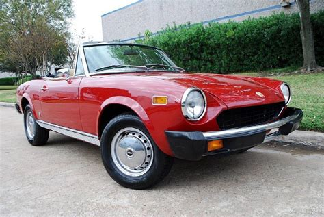 1978 fiat 124 pininfarina spider convertible for sale