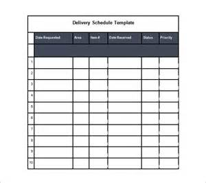 driver schedule template delivery schedule template 8 free word excel pdf