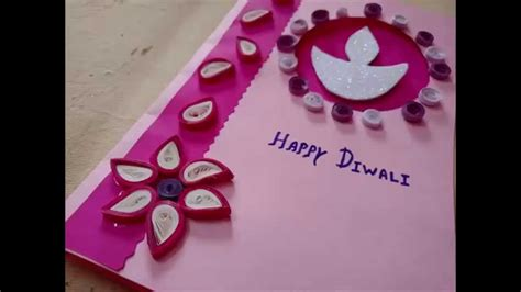 how to make diwali greeting cards diwali greeting card idea with paper quilling